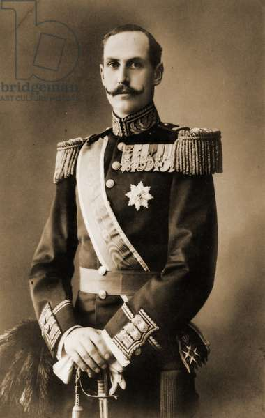 King Haakon VII of Norway c.1906 (b/w photo)