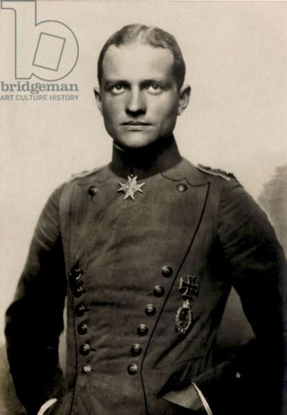 Portrait of Manfred von Richthofen, 1917 (photo)