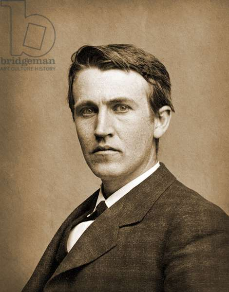 Portrait of Thomas Edison, 1878 (photo)