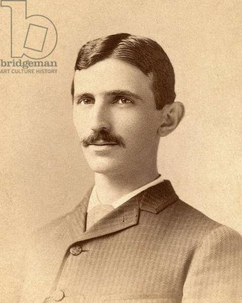 Portrait of Nikola Tesla c.1885 (photo)