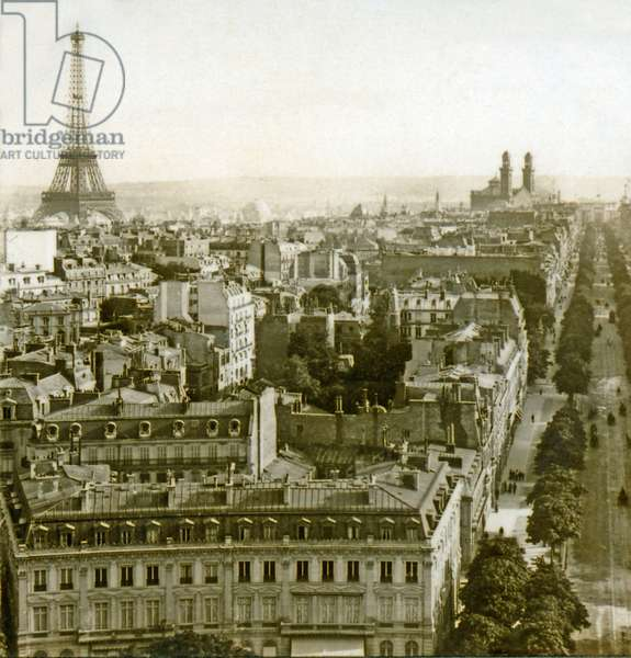 Eiffel Tower and Trocadéro from south side of The Arc de Triomphe, Paris, France 1889 (photo)