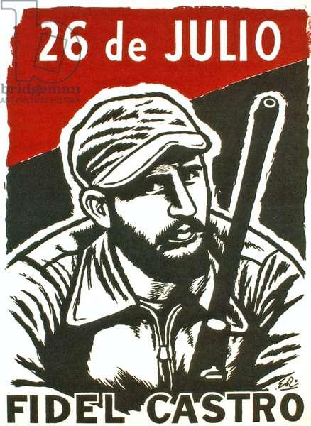 26 de Julio - Fidel Castro poster, c.1976 (screenprint)