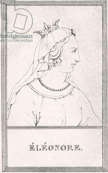 Portrait of Eleanor of Aquitaine, 1809 (engraving)