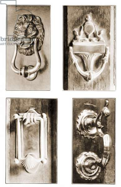 A selection of vintage Knockers, Salem, Massachusetts, United States. 1917 (Sepia Photo)