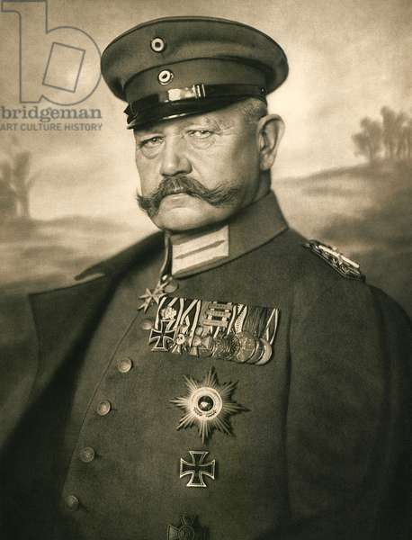 Portrait of Paul von Hindenburg, 1914 (photo)