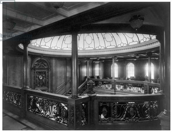 The Grand Staircase aboard the Titanic, c.1912 (photo)