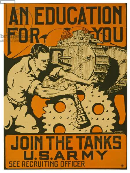 An education for you, Join the tanks U.S. Army, 1919 (lithograph)