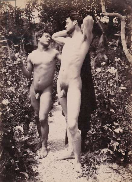 study of two male nudes, c.1900 (photo)