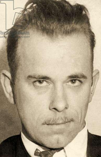 Portrait of John Dillinger (1903 – 34) (b/w photo)