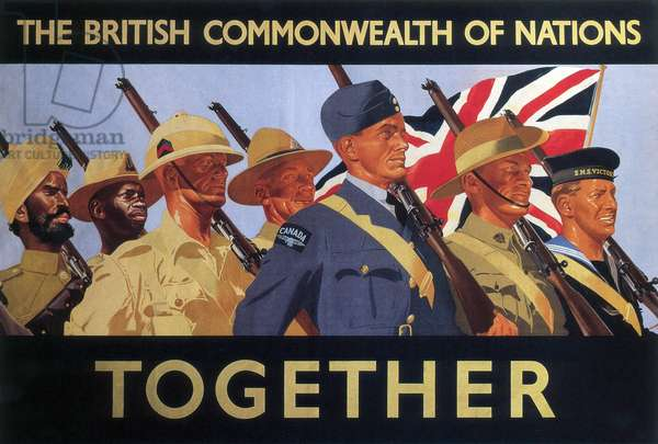 'Together', 2nd World War recruitment poster (colour litho)
