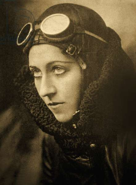 Portrait of Amy Johnson, c.1933-35 (b/w photo)