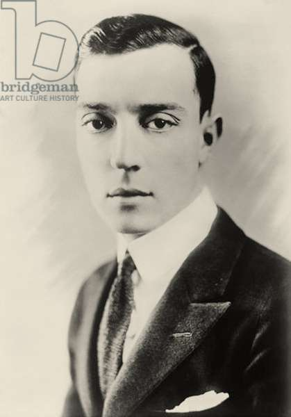 Portrait of Buster keaton (1895 – 1966) (b/w photo)