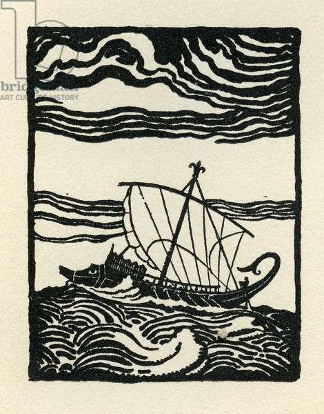 Odysseus's ship , 1929 (litho)