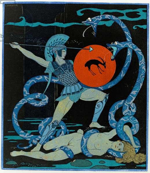 Illustration from Les Chansons de Bilitis, 1922 (pochoir)