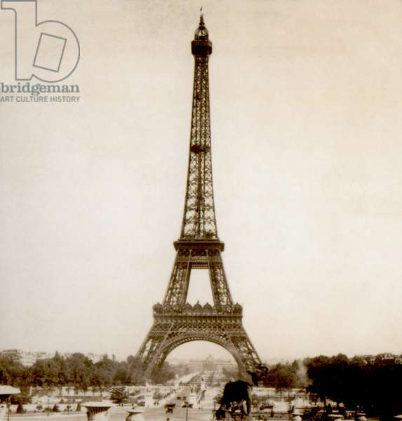 View of Eiffel Tower and Champ de Mars from Jardins du Trocadéro