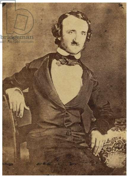 Seated portrait of Edgar Allan Poe. 1876 (Daguerreotype )
