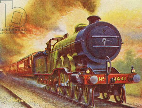 Flying Scotsman, 1925 (litho)