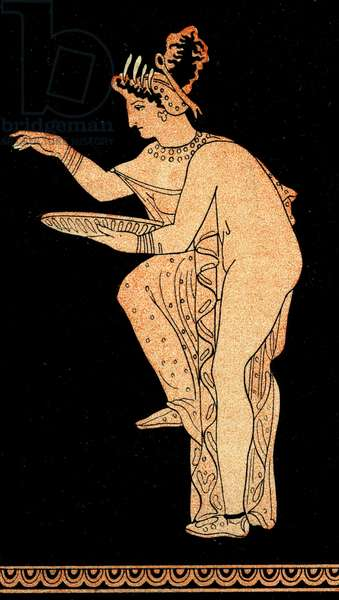 Woman offering Libation, Illustration from Notor's Lysistrata,  1898 (litho)