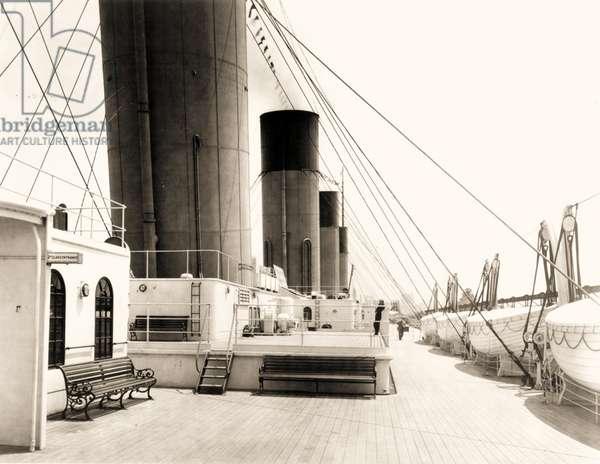 Deck of the Titanic, c.1912 (photo)