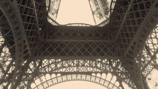 A view of the Eiffel Tower, Paris, France, (photo)