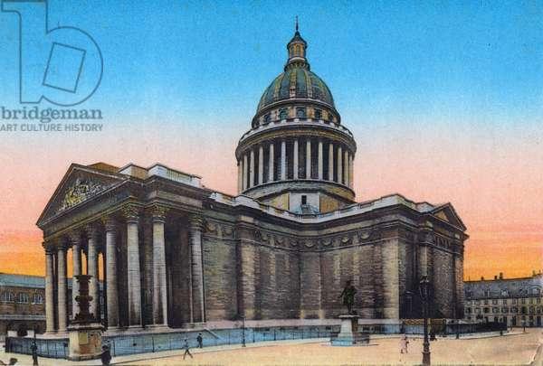 Pantheon, from 'Souvenirs De Paris - Monuments Vues en Couleurs' (colour litho)