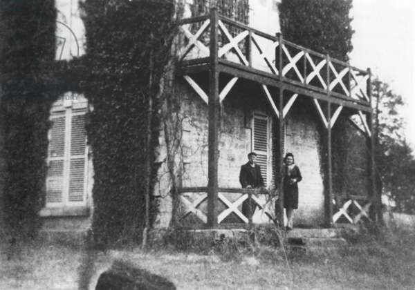 La Boisserie, the future family property of General Charles de Gaulle (1890-1970) in Colombey-les-Deux-Eglises, 1925 (b/w photo)
