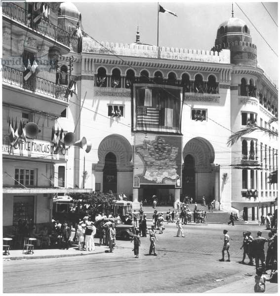 Free France in North Africa, Algiers, 1940 (b/w photo)