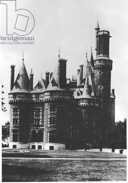 The Jesuit College of Sacre Coeur in Chateau des Princes de Ligne at Antoing, Belgium, 1907-08 (b/w photo)