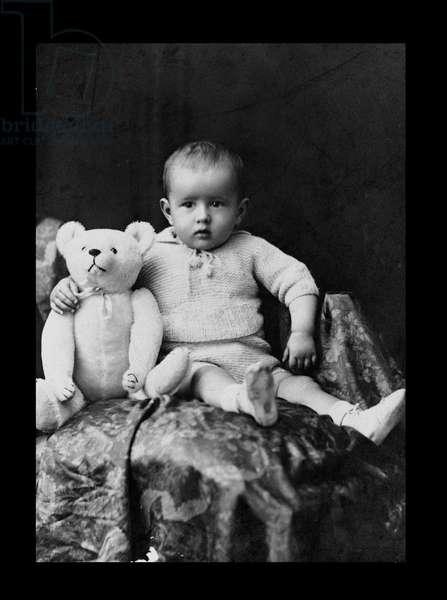Philippe de Gaulle (b.1921) at Mayence, 1922 (b/w photo)