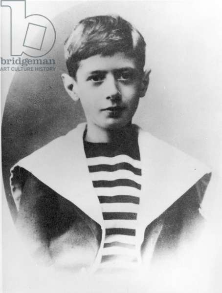 Charles de Gaulle (1890-1970) c.1899-1900 (b/w photo)