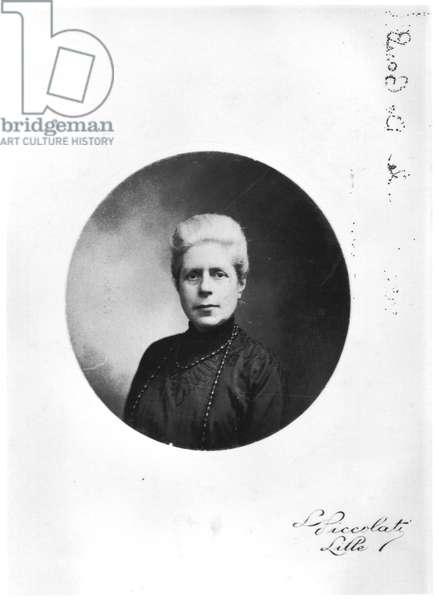 Madame Henri de Gaulle, born Jeanne Maillot (1860-1940) c. 1920 (b/w photo)