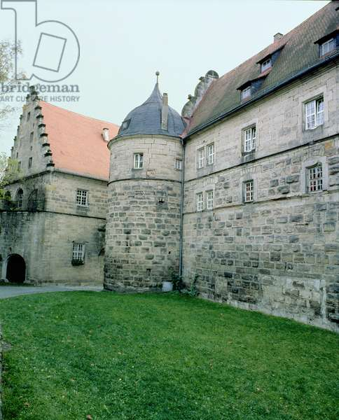 View of the Rosenberg Fort, where Charles de Gaulle was interned in July 1917, Kronach, Bavaria, Germany (photo)