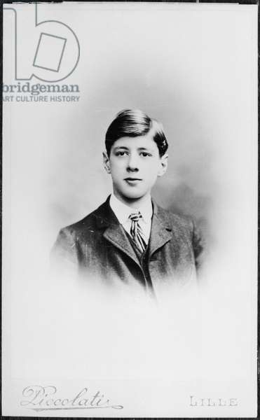 Charles de Gaulle (1890-1970) aged 16, 1906 (b/w photo)