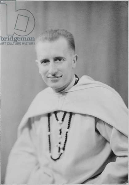 White Father Francois de Gaulle, 1947 (b/w photo)