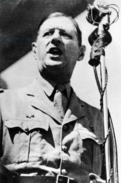 Liberation of Tunisia, Charles de Gaulle, May 1943 (b/w photo)