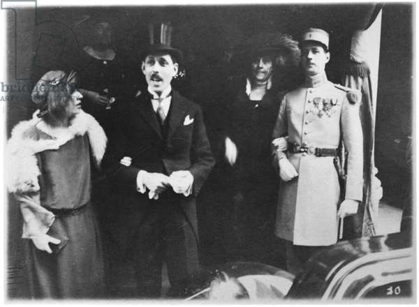 Commandant Charles de Gaulle (1890-1970) at a Wedding, c. 1924 (b/w photo)