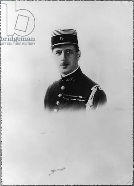 Charles de Gaulle (1890-1970) Commander of the 19th Infantry Battalion in Trier, c. 1927 (b/w photo)