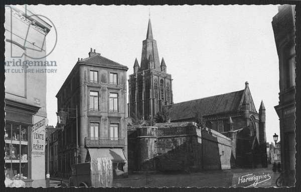 Church of Notre-Dame in Calais where Captain Charles de Gaulle (1890-1970) and Yvonne Vendroux (1900-79) married on the 7th April 1921 (b/w photo)