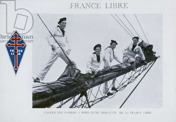 Postcard Free France, 1941 (colour litho)