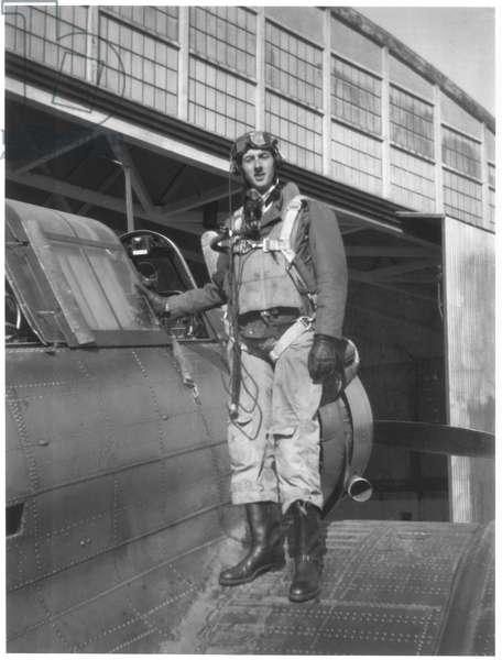 Lieutenant Philippe de Gaulle (b.1921) at the Hyeres naval base, Autumn 1946 (b/w photo)