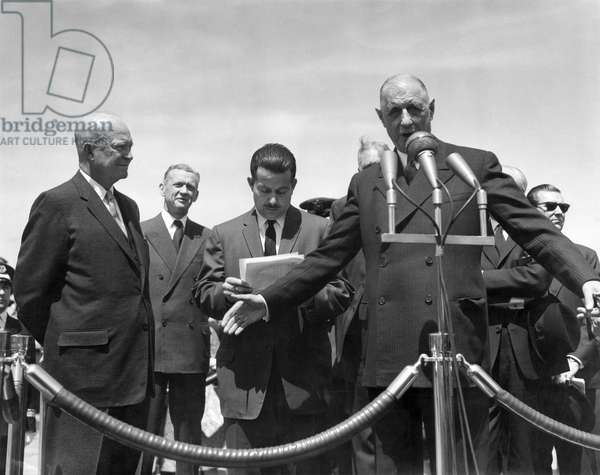 General de Gaulle and Eisenhower in the USA, 22 April 1960 (b/w photo)