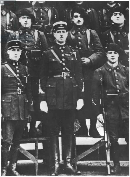 Charles de Gaulle (1890-1970) Commander of the 19th Infantry Battalion of chasseurs, Trier, 1926-27 (b/w photo)