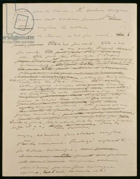 Original manuscript of the 18th June 1940 address of General de Gaulle, 2nd page recto, 1940 (ink on paper)