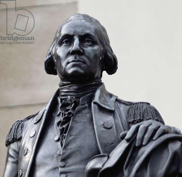 Detail of George Washington by Jean-Antoine Houdon (photo)