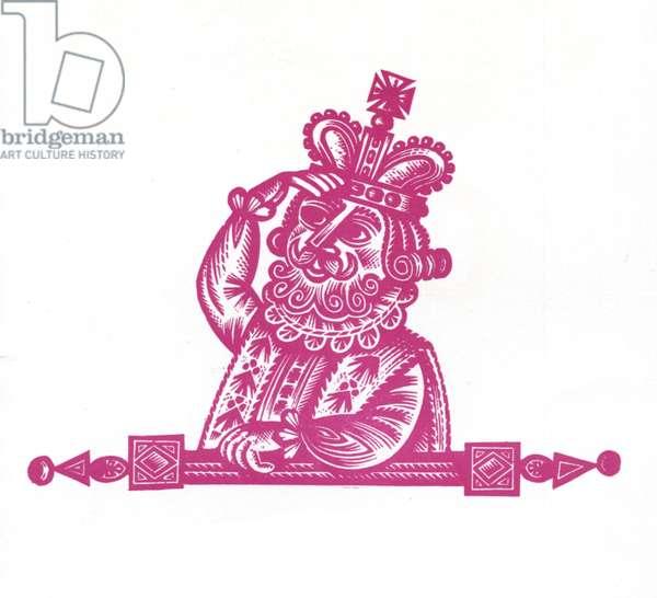 Good King Wenceslau, 1957 (wood engraving)