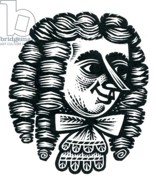 Le Bourgeois Gentilhomme, 1957 (wood engraving)