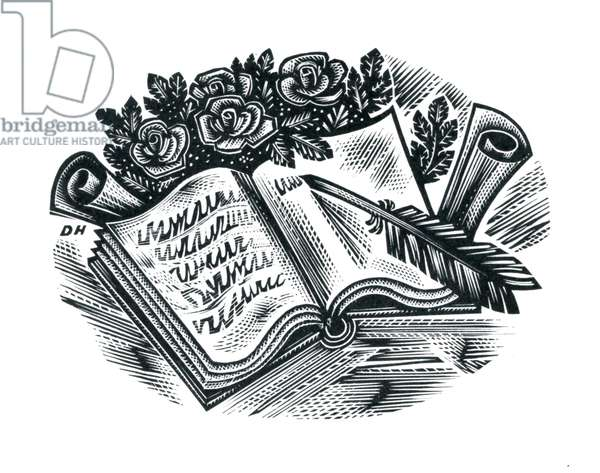 Prose and Verse, 1957 (wood engraving)