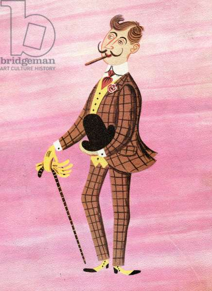Gentlemanly Manners, 1949 (gouache on paper)