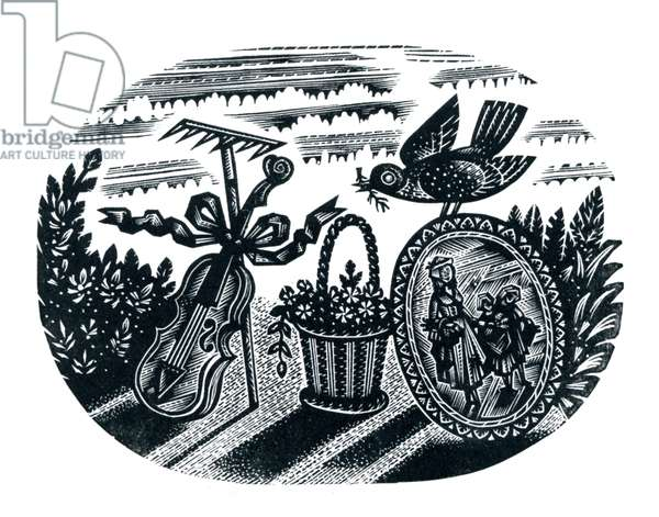 Spring, 1954 (wood engraving)