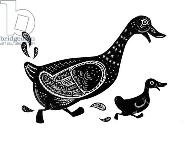The Modern Duck/Festival of Britain, 1951 (wood engraving)